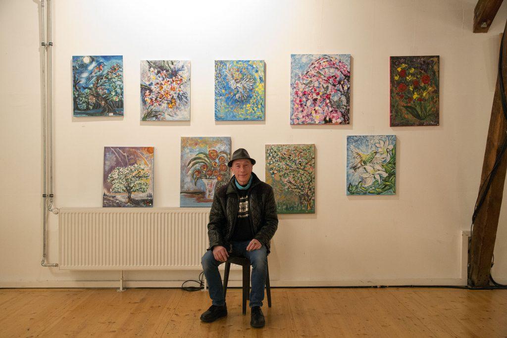 Vernissage expo de peinture therapeutique. Galpon. Geneve.